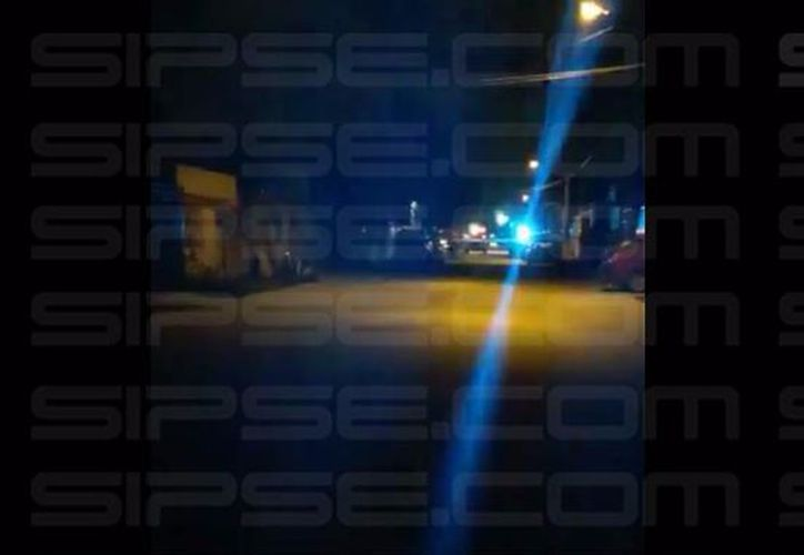 Los delincuentes se escaparon,  hacia el Fraccionamiento Tierra Maya de Cancún. (Foto: Redacción/SIPSE).