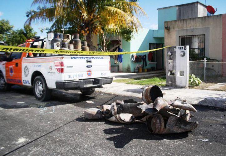 Uno de los tres lesionados y presuntos responsables de la explosión, se encuentra prófugo. (Daniel Pacheco/SIPSE)