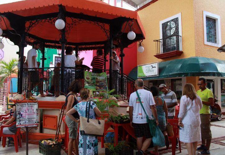 En el evento venden frutos, semillas, alimentos orgánicos, productos artesanales y reciclables. (Luis Soto/SIPSE)