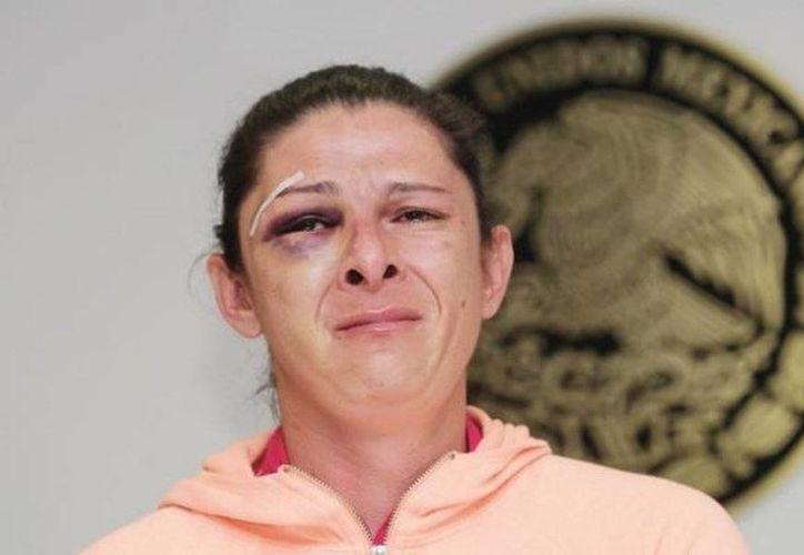 Ana Gabriela Guevara destacó que su caso no es el único, ya que en las redes sociales se fomenta la violencia contra la mujer bajo el #GolpeaAUnaMujer. (twitter.com/DiarioPresente)