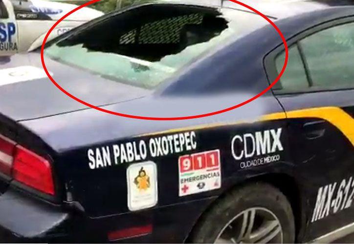 Las patrullas que resultaron dañadas fueron la MX615R1, MX-612R1 y la MX616R1. (Excelsior)