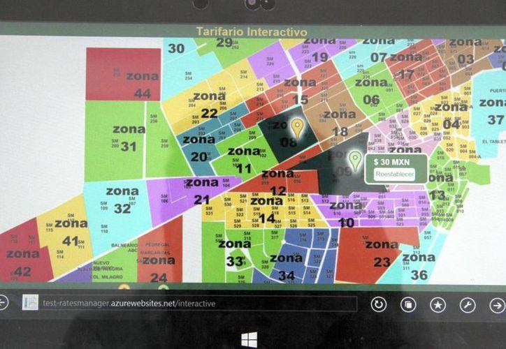 """El """"tarifario interactivo"""" funcionará con el mapa de 53 zonas. (Tomás Álvarez/SIPSE)"""
