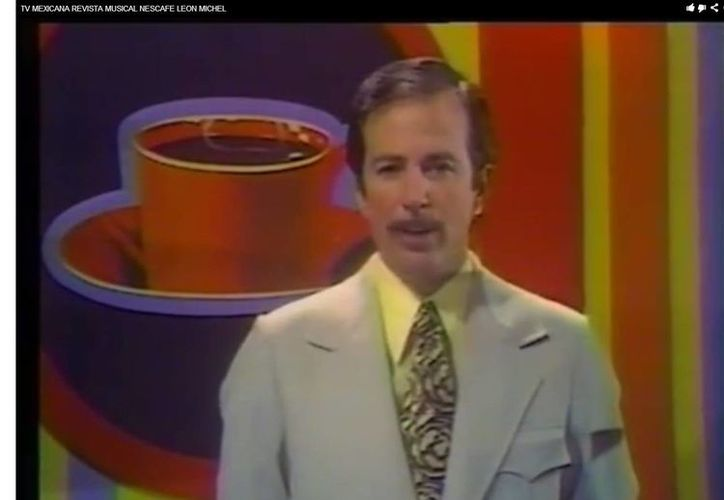 Leon Michel fue una de las voces representativas de los inicios de la televisión en México. (YouTube)