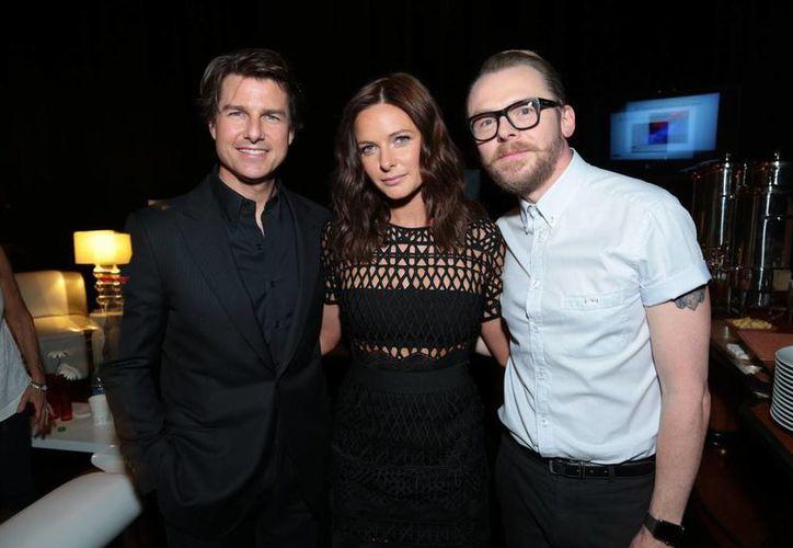 Tom Cruise, Rebeca Ferguson y Simon Pegg son los protagonistas de 'Misión imposible: Nación secreta', que en su primer día de estreno en México recaudó 12-7 mdp. (blackfilm.com)