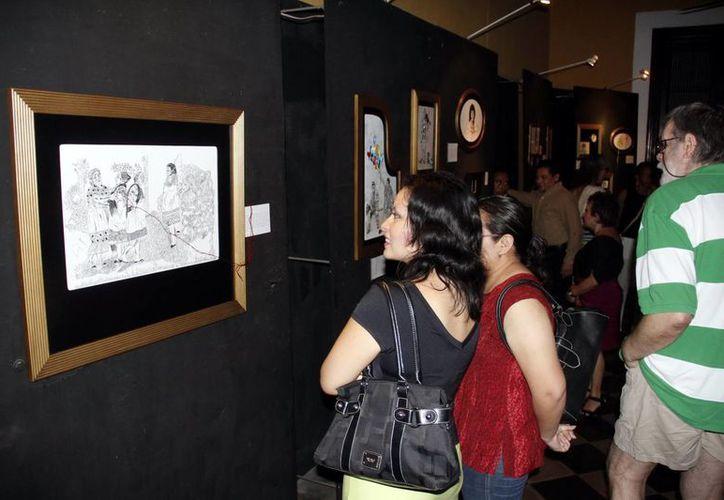 Exposición textil de Elena Martínez. (Juan Carlos Albornoz/SIPSE)