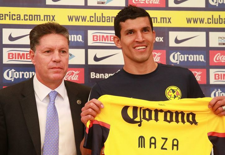 EL pasado miércoles, el América anunció la contratación del 'Maza' Rodríguez procedente del Stuttgart de Alemania. (Foto: Agencias)