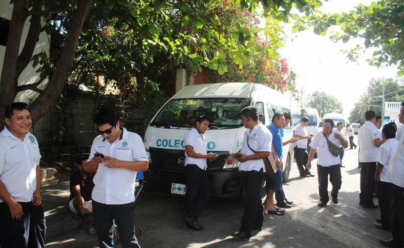 Los trabajadores piden una maya protectora para evitar más asaltos. (Foto: Octavio Martínez)