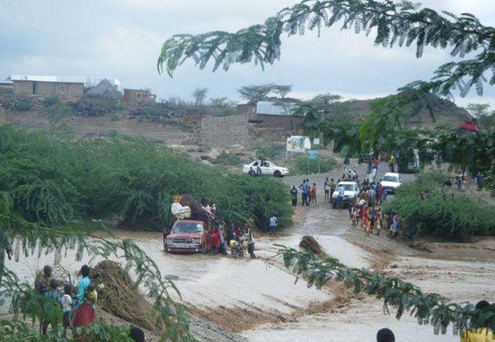 Los niveles de agua en Boma aumentaron drásticamente en cuestión de horas. (Archivo/Agencias)