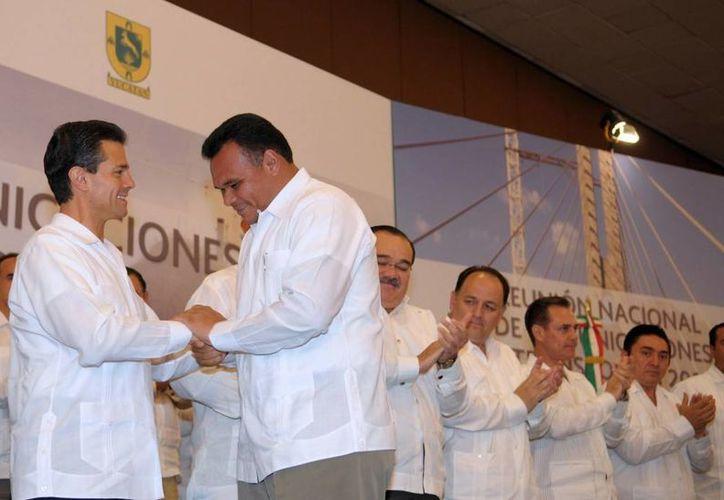El Presidente dijo que la licitación del tren transpeninsular saldrá en este 2013. (presidencia.gob.mx)