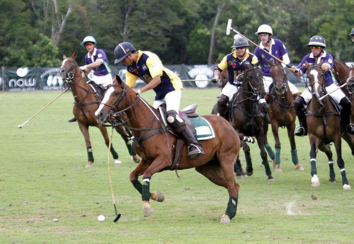 Cuatro jinetes a bordo de elegantes equinos, hicieron de este deporte ecuestre un excelente espectáculo. (Francisco Gálvez/SIPSE)