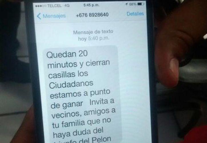 El PRI denuncia que Antonio 'Pelón' Cervera promovió el voto a su favor vía celular. (Alejandra Galicia/SIPSE)