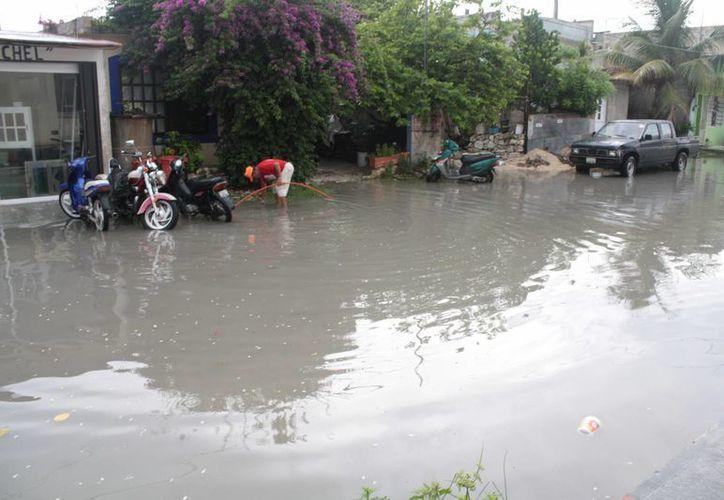 En Cozumel se ubica a seis colonias como las más susceptibles de inundarse. (Gustavo Villegas/SIPSE)