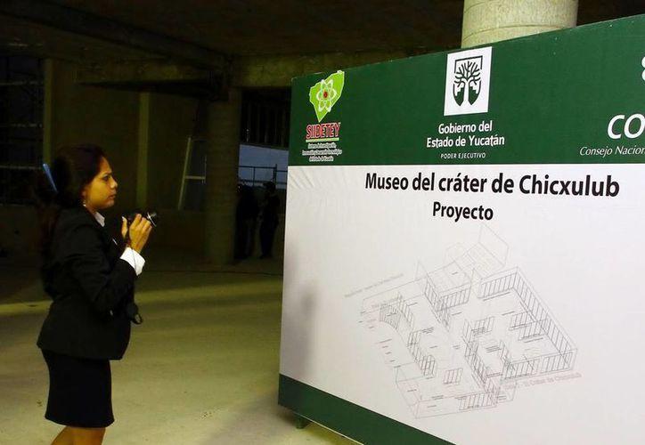 Todo se encuentra listo para la inauguración del Museo del Cráter de Chicxulub. (Milenio Novedades)