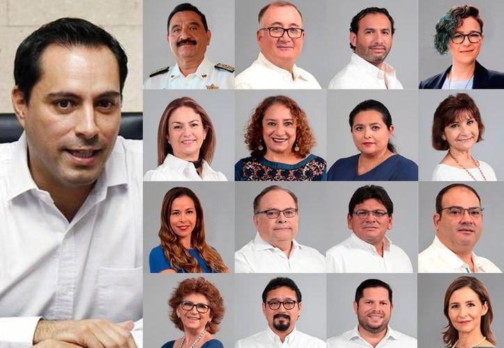 Mauricio Vila Dosal, presentó este viernes a los miembros del gabinete que ocuparán las titularidades de las secretarías del gobierno. (SIPSE)