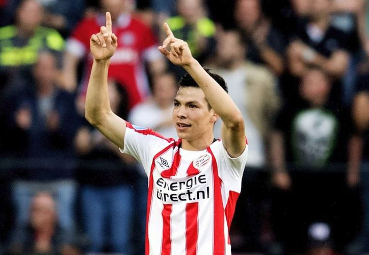 Lozano  anotó su gol 11 en la Eredivisie y le dio el triunfo al PSV con 2-1 sobre Vitesse. (Foto: ESPN)