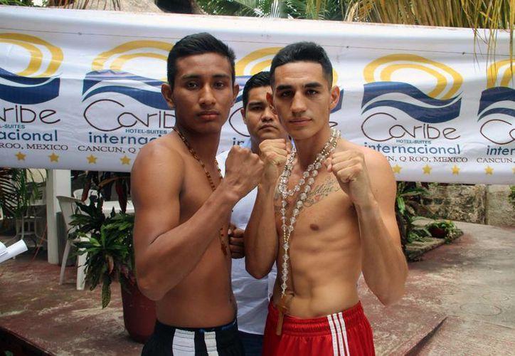 Cristian Bautista y Luis Salamanca se declaran listos para el combate. (Raúl Caballero/SIPSE)