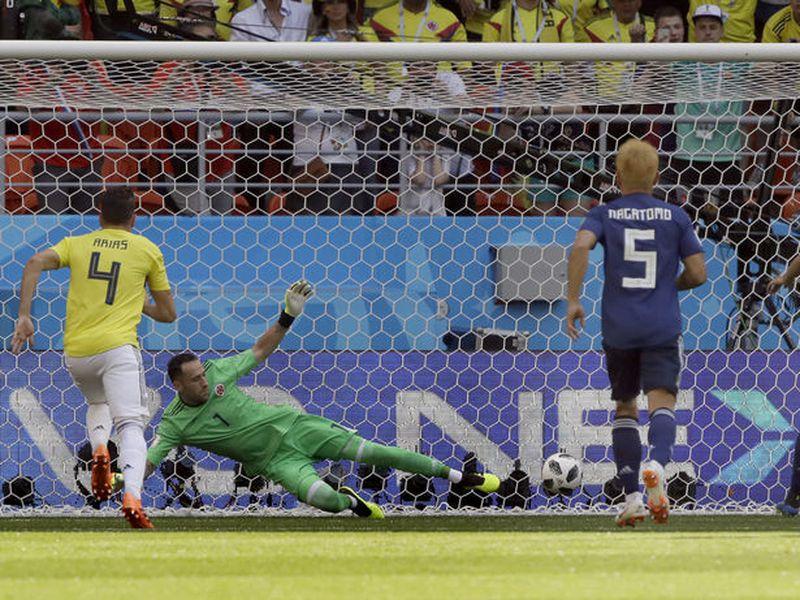 Japón se adelantó en el marcador a Colombia, casi al inicio del partido, pero casi al final del primer tiempo los sudamericanos igualaron, y en el segundot tiempo sucumbieron (Foto: AP)