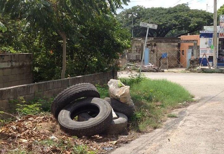 """Cualquier 'espacio' vacío de la ciudad es """"pretexto"""" para tirar basura. (David Pompeyo/SIPSE)"""