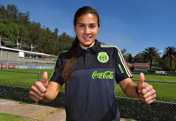 Nayeli Rangel, jugadora de 24 años de la selección mexicana que compitió en el Mundial de Canadá, se unirá al equipo Sporting Huelva de Primera División femenil de España en enero. (imago7.com)