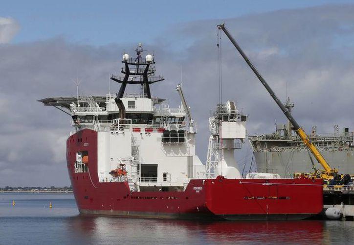 Barco de la marina australiana Ocean Shield, el cual es utilizado en la búsqueda del avión de Malaysia Airlines. (Agencias)