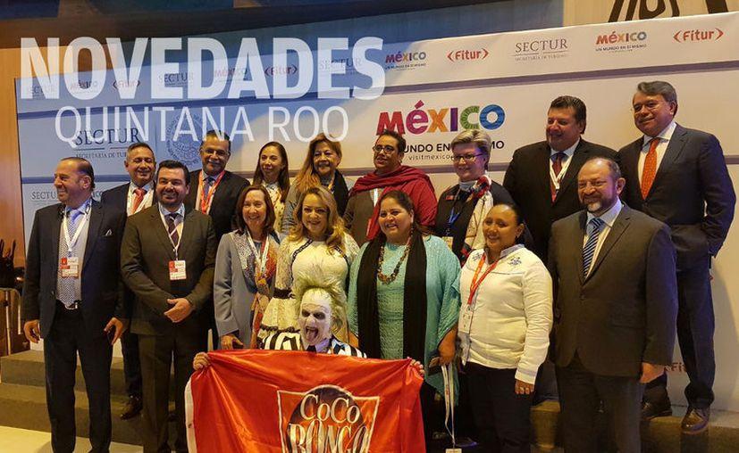 Autoridades de Quintana Roo acudieron al evento turístico en Madrid, España. (Foto: Redacción)