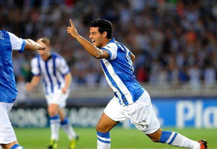 Carlos Vela lleva varios años en la Real Sociedad, donde se ha consolidado como un delantero contundente.(espndeportes.espn.go.com)