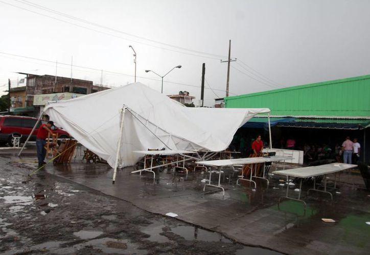 Las lluvias en Chiapas suelen ser muy severas, pero no con granizo. La semana pasada, vientos de una tromba causaron daños en la capital,Tuxtla Gutiérrez. (Foto de archivo/Notimex)