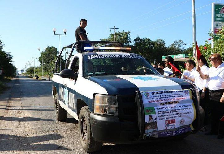 La corporación implementa operativos en las comunidades del municipio. (Raúl Balam/SIPSE)