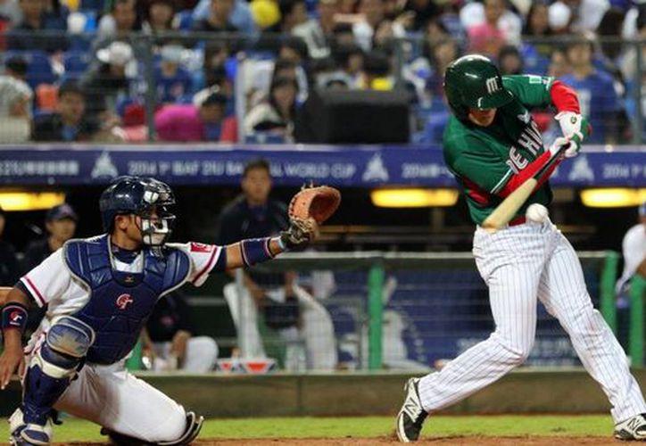 La selección mexicana cayó por pizarra de 3-2 ante Japón, y quedó eliminada del Mundial Sub-23 de beisbol, que se celebra en Monterrey. (Twitter: @WBSC)