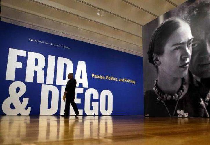 Muestra de Diego Rivera y Frida Kahlo en Atlanta, Estados Unidos. (Agencias)