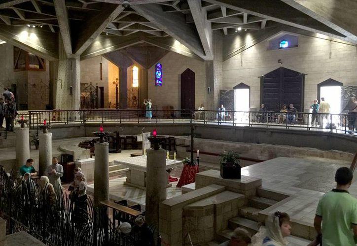 La Iglesia de la Anunciación se ha convertido en sitio de peregrinación en Nazaret. (Notimex)