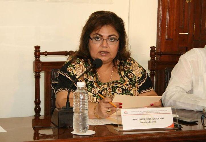 María Elena Achach Asaf en la sesión de este martes. (SIPSE)
