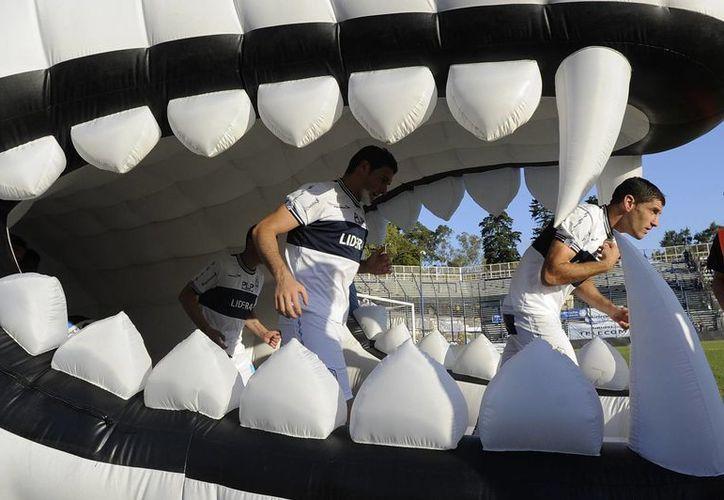 Jugadores de Gimnasia durante un juego en el estadio Juan Carmelo Zerillo. (Foto: Agencias)