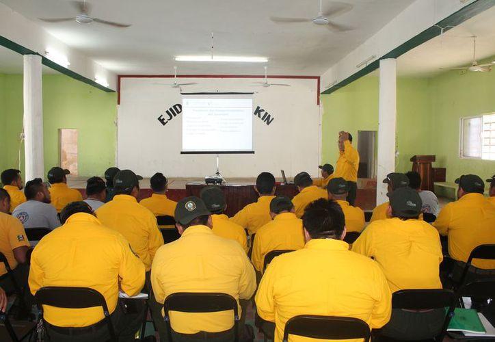 El coordinador de la Conafor impartió un taller para combatientes de incendios forestales. (Raúl Balam/SIPSE)