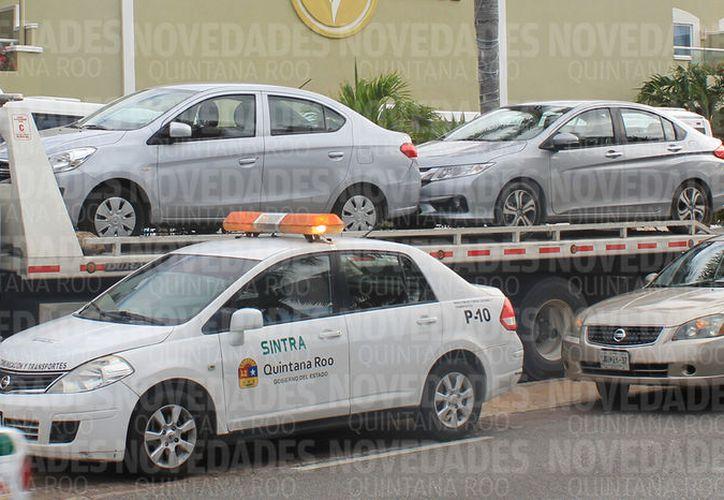Peca y Cardona tienen el servicio de arrastre y resguardo en los operativos de Sintra. (Jesús Tijerina/SIPSE)