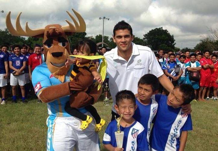 """Venardo"", la mascota del CF Mérida. (Milenio Novedades)"