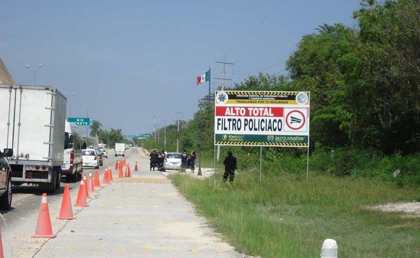 Las autoridades municipales planean instalar un filtro de seguridad en la nueva vialidad, como los que se encuentran ubicados en las salidas carreteras de la ciudad, con dirección a Tulum y a Cancún. (Juan Cano/SIPSE)
