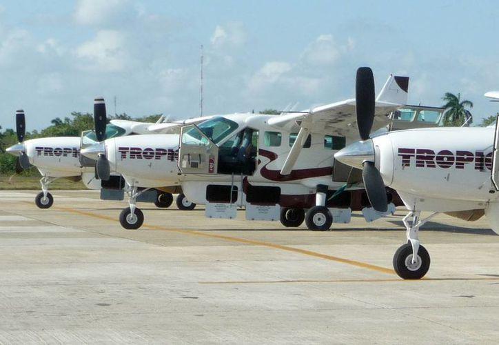 La ruta aérea Belice-Mérida, de la compañía Tropic Air tiene un éxito entre los yucatecos y beliceños por su bajo costo. (Archivo/SIPSE)