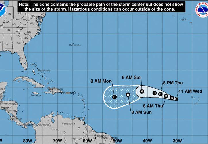 Actualmente 'Irma' no representa un riesgo para la Península de Yucatán. (Noaa)