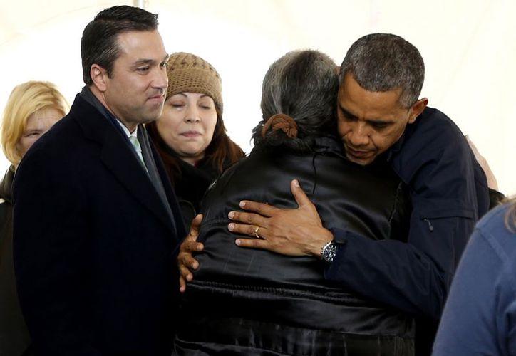 La visita de Obama se produjo a 17 días de que Sandy golpeara Nueva York y Nueva Jersey. (Agencias)