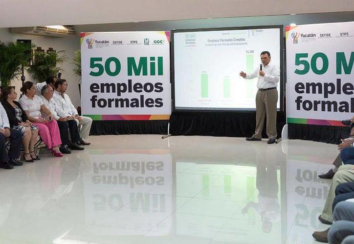 El Gobernador de Yucatán anunció la generación de más de 50 mil empleos en su administración. (SIPSE)