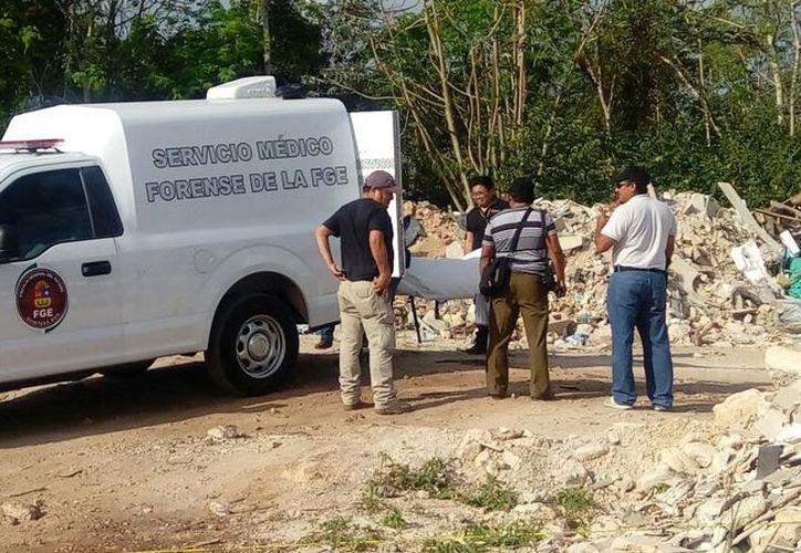 El ejecutado hallado por la carretera GasAuto, fue reconocido por sus familiares. (Redacción/SIPSE)