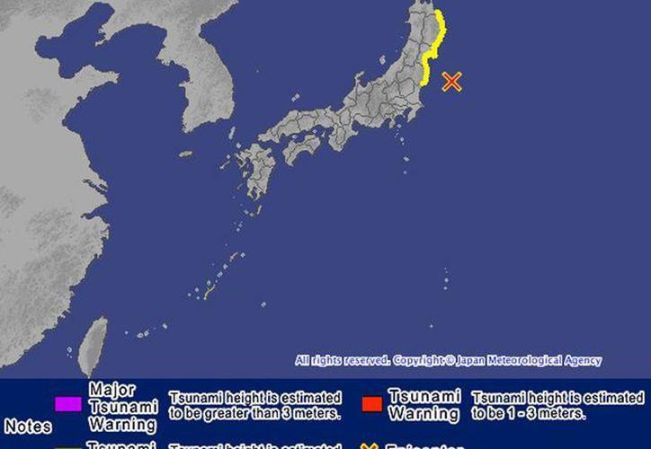 Se lanza alerta de tsunami local por precaución en la costa de Japón. (@SkyAlertMx)