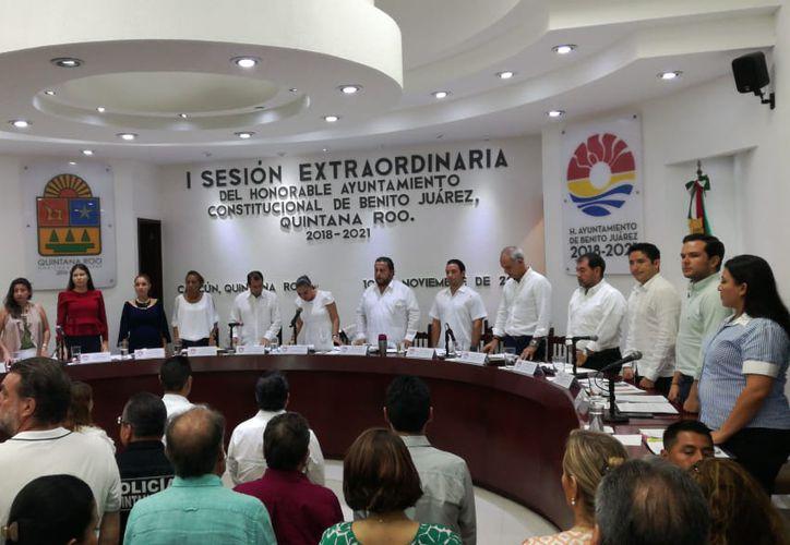 El Cabildo aprobó el paquete fiscal 2019, mismo que será enviado al Congreso del Estado. (Claudia Olavarria/SIPSE)