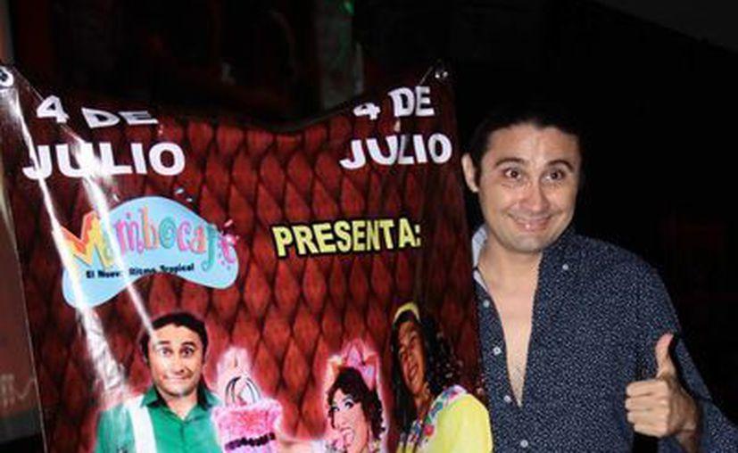 Imagen de Taco de Ojo en la rueda de prensa de la presentación de la obra 'Guerra de Huiras' en el Mambo Café. (Jorge Acosta)