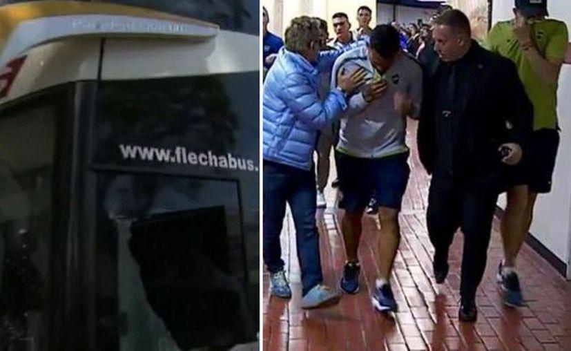 El vehículo terminó con cristales rotos y algunos jugadores fueron afectados por el gas, uno incluso resultó herido en un ojo. (Marca)