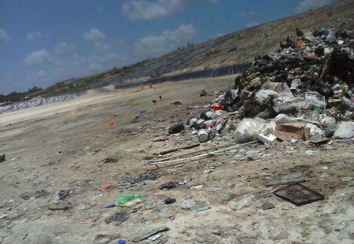 El relleno sanitario del municipio de Solidardad sigue sin la planta recicladora prometida. (Daniel Pacheco/SIPSE)
