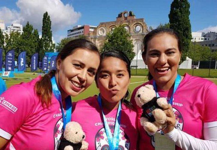 Las mexicanas participaron en el Mundial de Tiro con Arco 2017 realizado en Berlín, Alemania. (Twitter Conade)