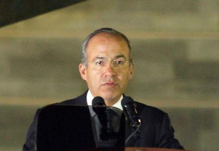 Calderón dijo que desde el inicio de su administración enfrentó retos en seguridad, economía y salud. (Archivo Notimex)