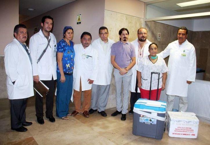 La donación se realizó el Hospital General Regional Número 17 del Instituto Mexicano del Seguro Social en Cancún. (Cortesía)